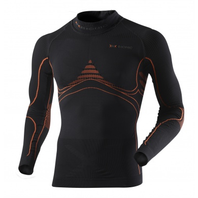 X-Bionic Energy Accumulator Turtle Neck schwarz/orange Herren