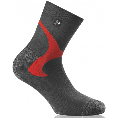 Rohner Next Nordic Walkingsocken anthrazit/rot 2er