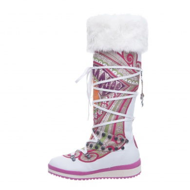 Snoboot Mutant High Tattoo Color 2013 weiss Winterschuhe Damen