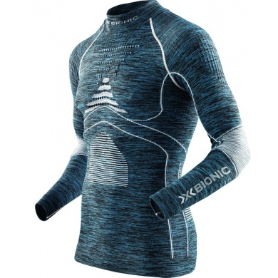 X-Bionic Energy Accumulator Evo Melange 2016 Turtle Neck Shirt blau Herren