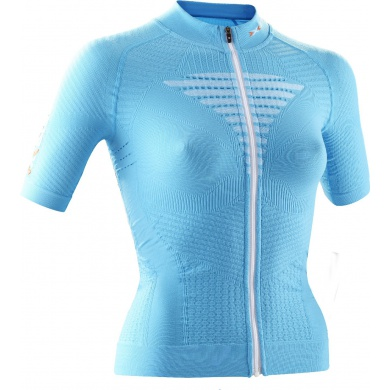 X-Bionic Bike Effektor Power Tshirt Full Zip t�rkis Damen