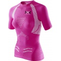 X-Bionic Running The Trick Shirt Short Sleeve pink/weiss Damen