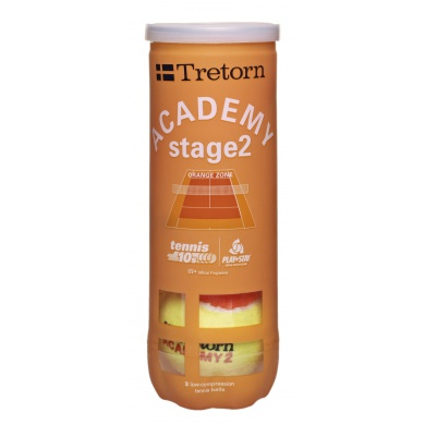 Tretorn Stage 2 orange Methodikbälle 3er