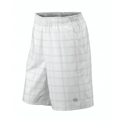Wilson Short Rush 10 Plaid weiss Herren