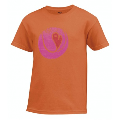 Wilson Shirt Heart Tennisball koralle Girls