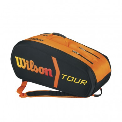 Wilson Racketbag Burn Molded 2015 schwarz/orange 9er