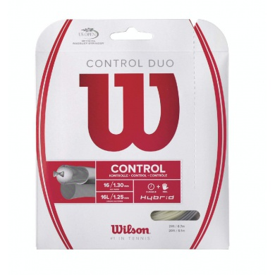 Wilson Control Duo (NXT Power + Alu Power) hybrid Tennissaite