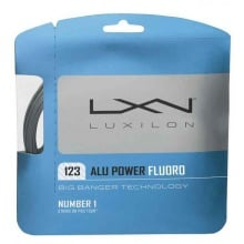 Luxilon Alu Power Fluoro 1.23 silber Tennissaite