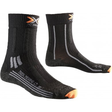 X-Socks Trekkingsocke Merino LIGHT schwarz Damen