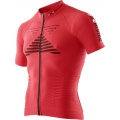 X-Bionic Bike Effektor Power Tshirt Full Zip 2016 rot Herren