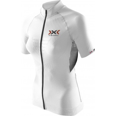 X-Bionic Bike The Trick Short Sleeve Full Zip weiss Damen