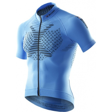 X-Bionic Bike TWYCE Short Sleeve Full Zip 2016 blau Herren