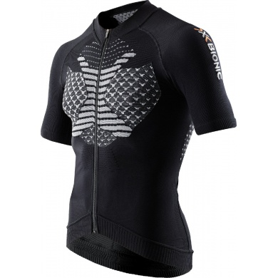 X-Bionic Bike TWYCE Short Sleeve Full Zip 2016 schwarz Herren