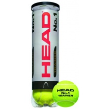 Head No. 1 Trainer Tennisb�lle 4er