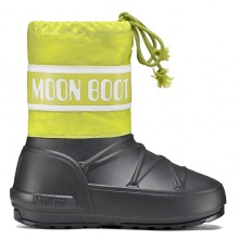 MoonBoot POD schwarz/lime Kinder