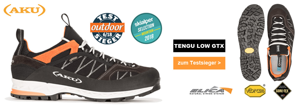 AKU Tengu Low GTX 2018 Outdoorschuh Herren - Testsieger -