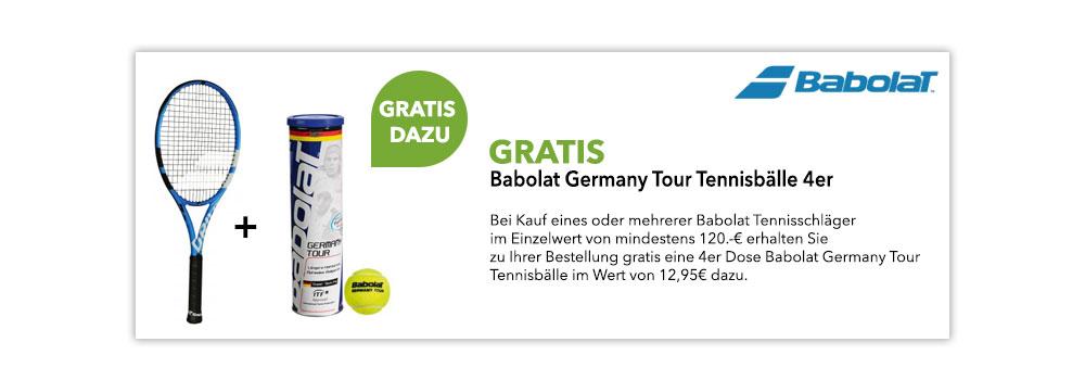 Gratis Aktion Babolat Germany Tour Tennisbälle
