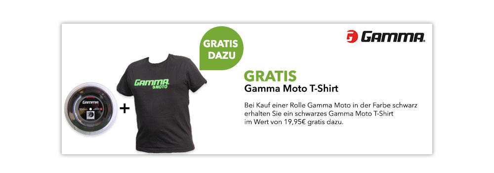 gratis schwarzes Gamma Moto-Shirt