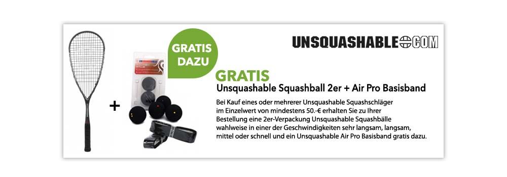 Gratis Aktion Unsquashable Bälle + Basisband