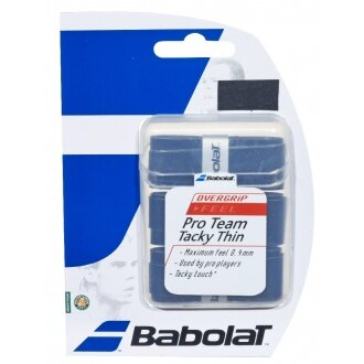 Babolat Pro Team Tacky THIN Overgrip 3er schwarz