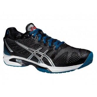 Asics Gel Solution Speed 2 Clay 2015 schwarz/blau Tennisschuhe Herren (Größe 46,