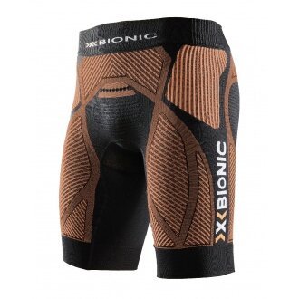 X-Bionic Running The Trick Pant Short schwarz/orange Herren