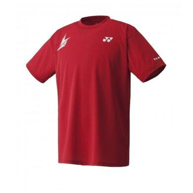 Yonex Tshirt 16001 Lin Dan 2015 rot Herren