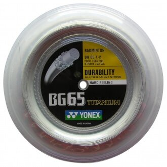 Yonex BG 65 Ti 0.70 weiss 200 Meter Rolle