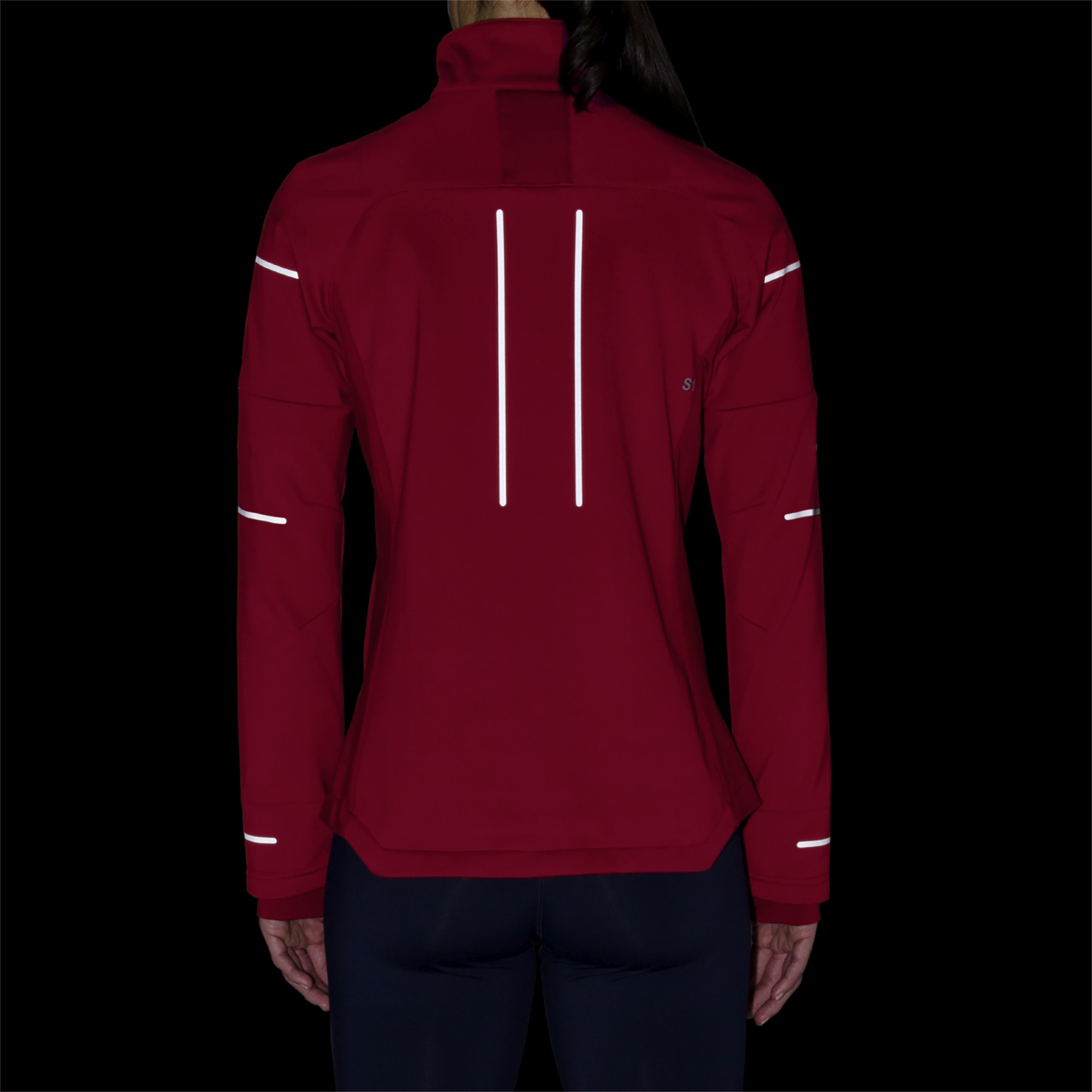 Asics Jacket Lite Show Winter 2018 rot Damen