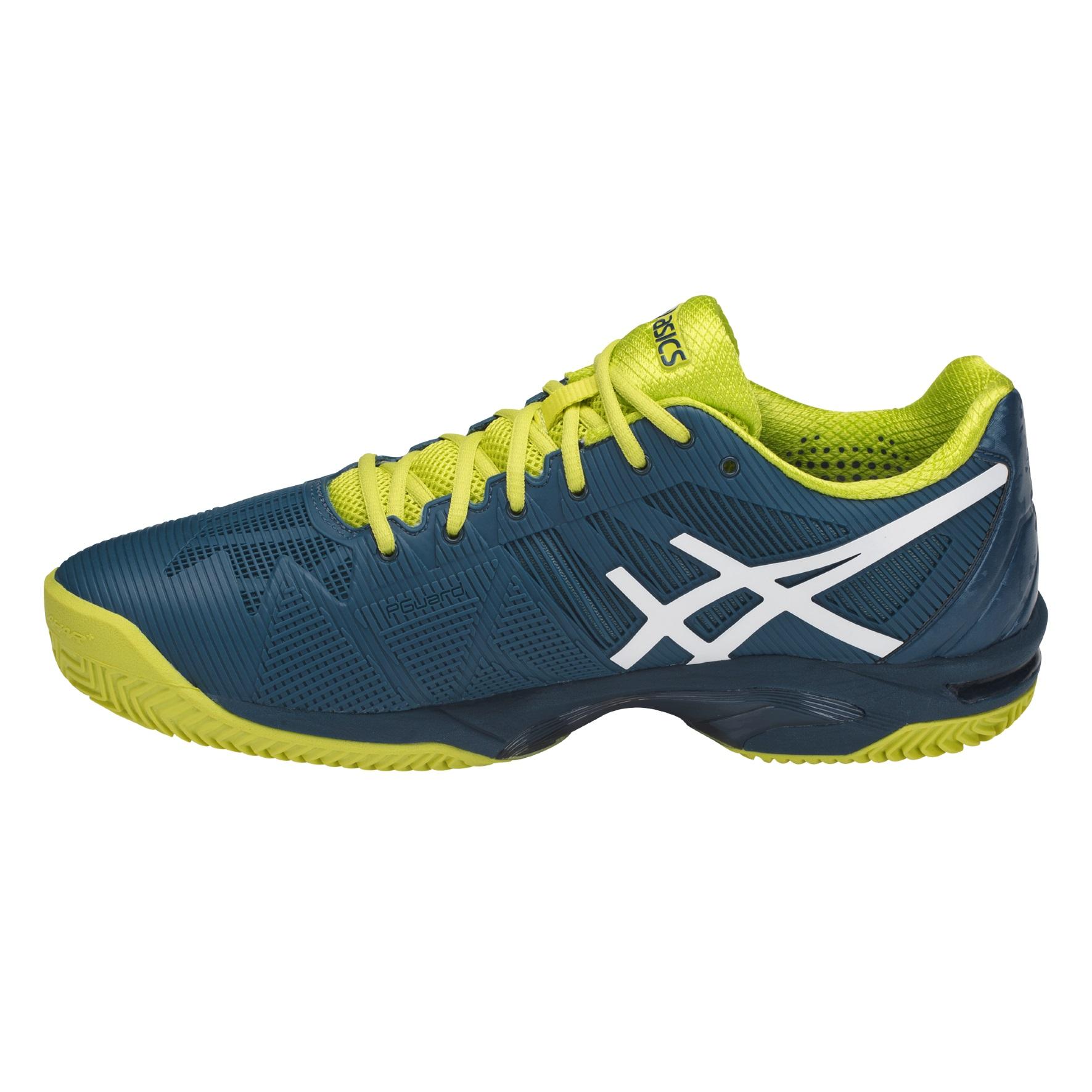 Asics Herren Gel Solution Speed 3 Clay Tennis Schuhe Laufschuhe Rot Extra Leicht