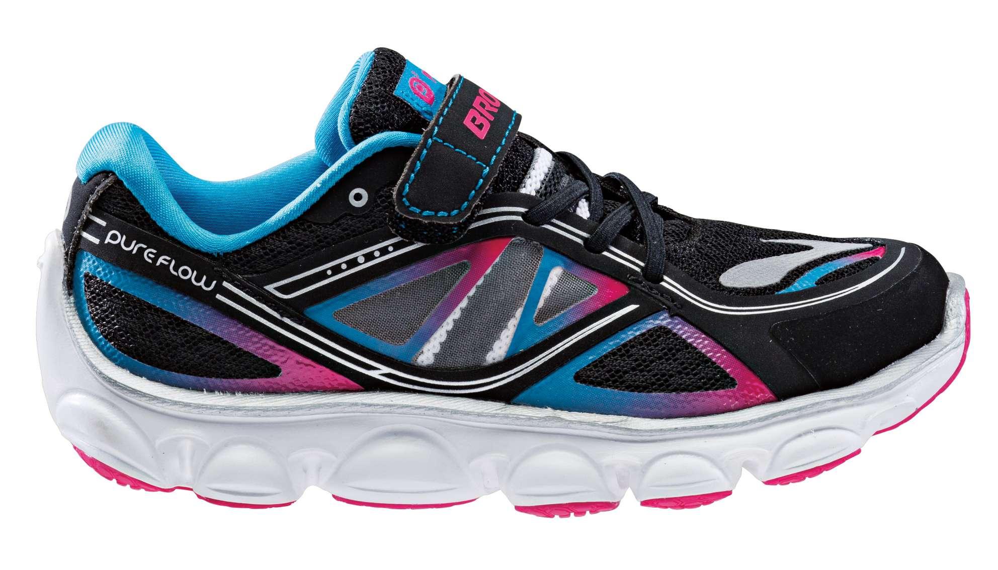 Brooks PureFlow 3 schwarz/pink Laufschuhe Kinder 3wI1D0A