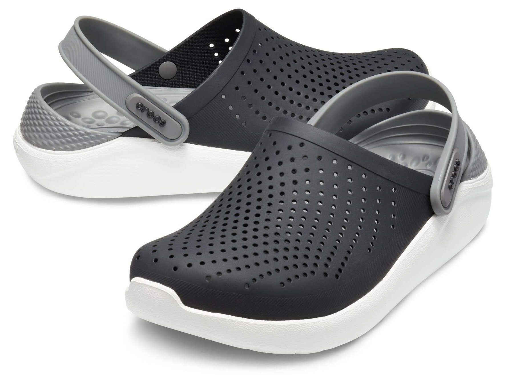 new product 75a98 f7880 Crocs LiteRide Cloq 2019 schwarz/grau Sandale Herren
