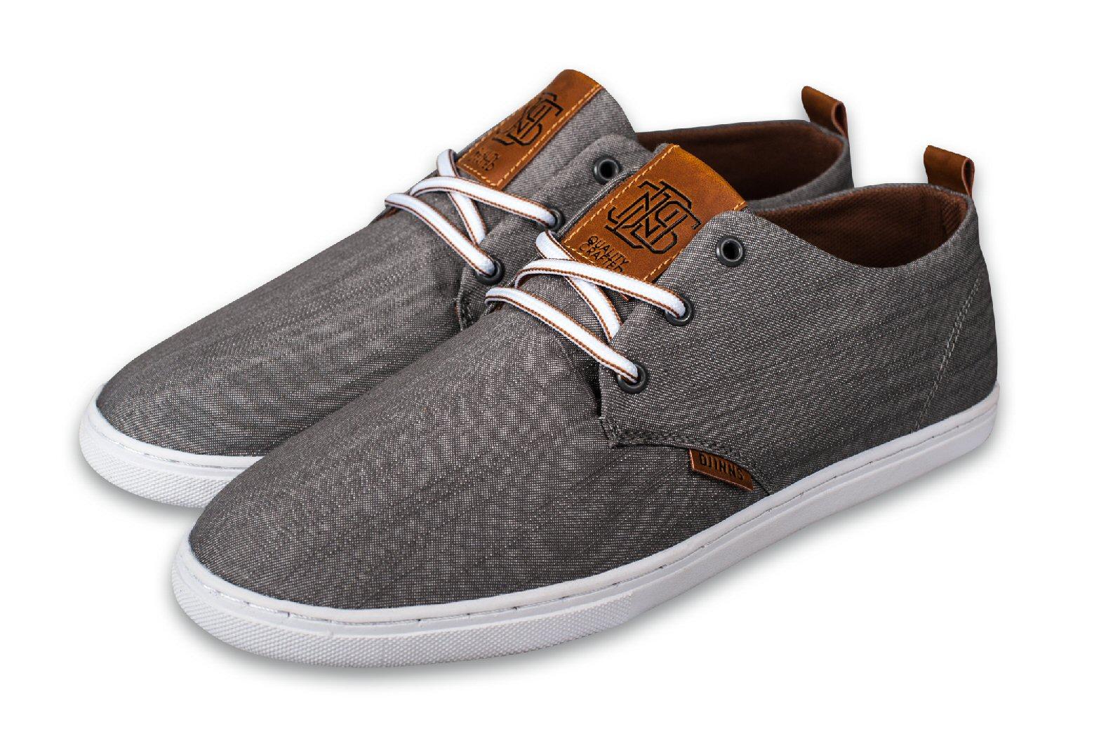Djinn´s Djinns Low Lau Linen 2014 grau Sneaker Herren (Größe 43+45)