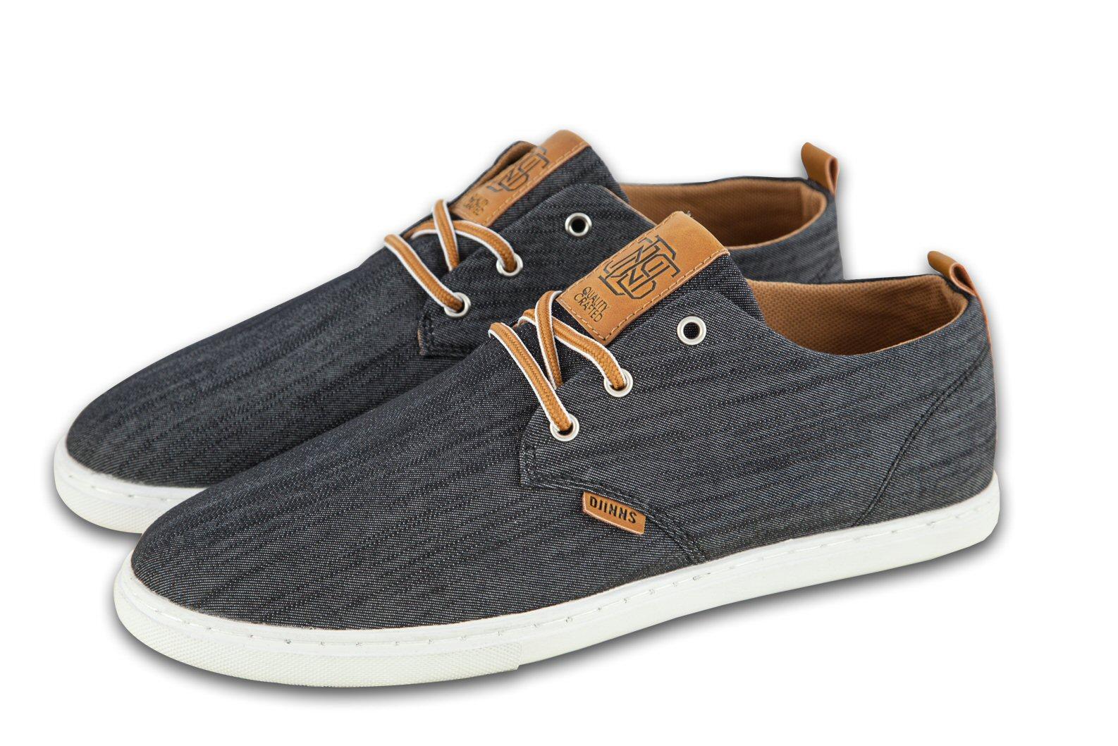 Djinn´s Djinns Low Lau Linen 2015 schwarz Sneaker Herren