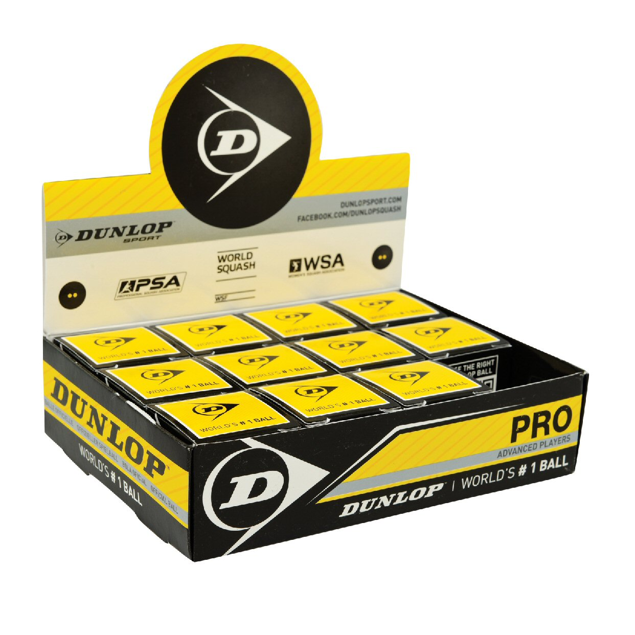 Dunlop Squashball Pro (2 Punkt) 12er Box