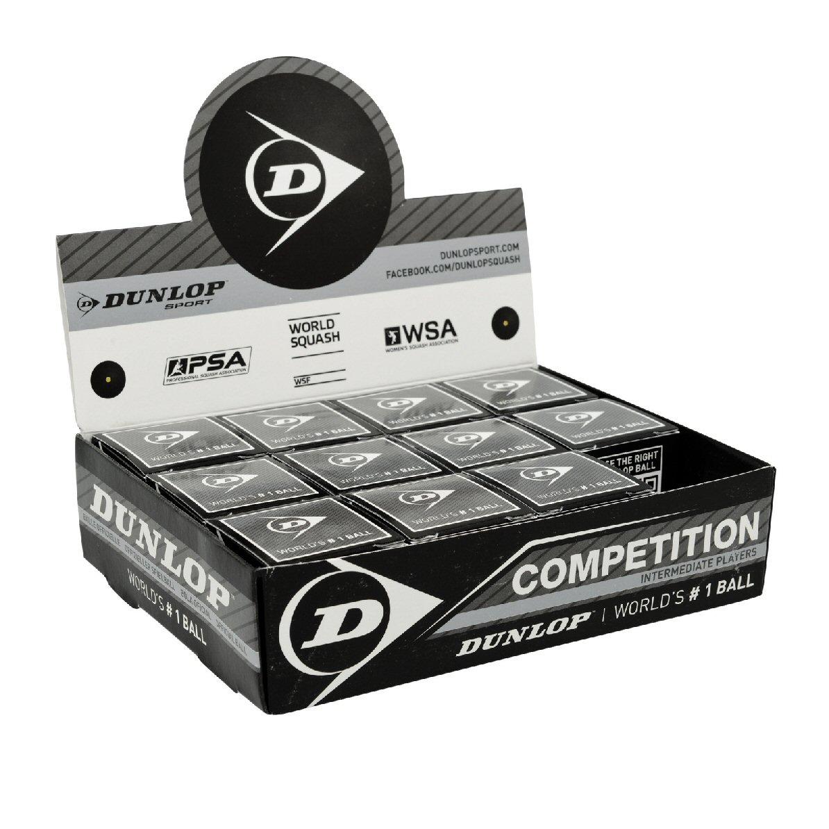 Dunlop Squashball Competition (1 Punkt) 12er Box