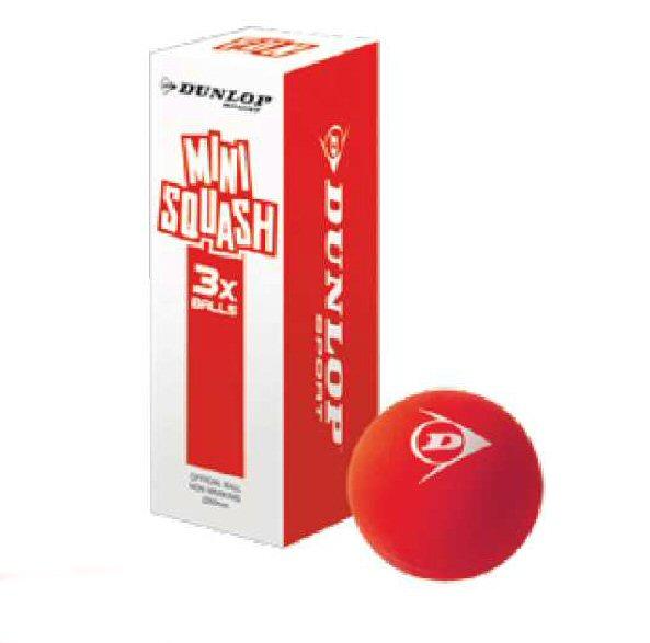 Dunlop Squashball FUN Mini Junior rot 3er