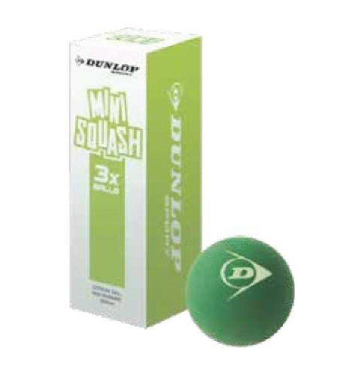Dunlop Squashball COMP Mini Junior grün 3er