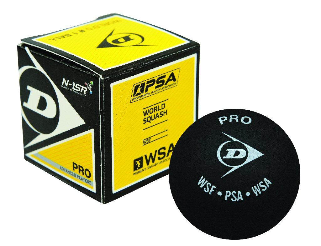 Dunlop Squashball Pro (2 Punkt) schwarz einzeln