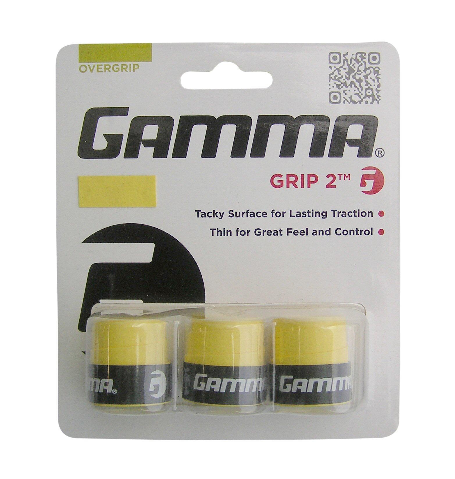Gamma Grip 2 Overgrip 3er gelb