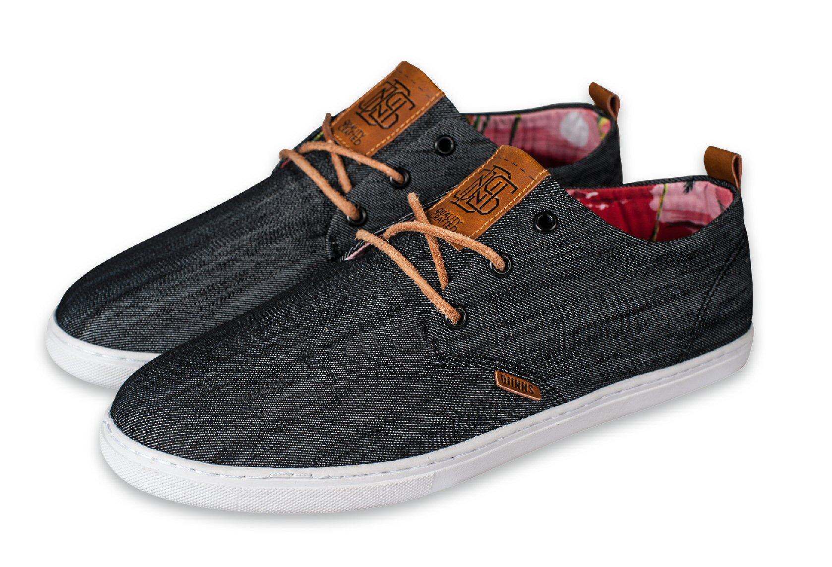 Djinn´s Djinns Low Lau Denim Aloha schwarz Sneaker Herren