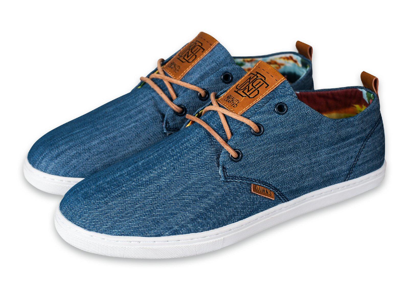 Djinn´s Djinns Low Lau Denim Aloha blau Sneaker Herren