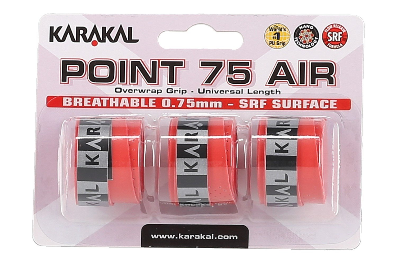 Karakal Point Air 75 Overgrip 3er rot
