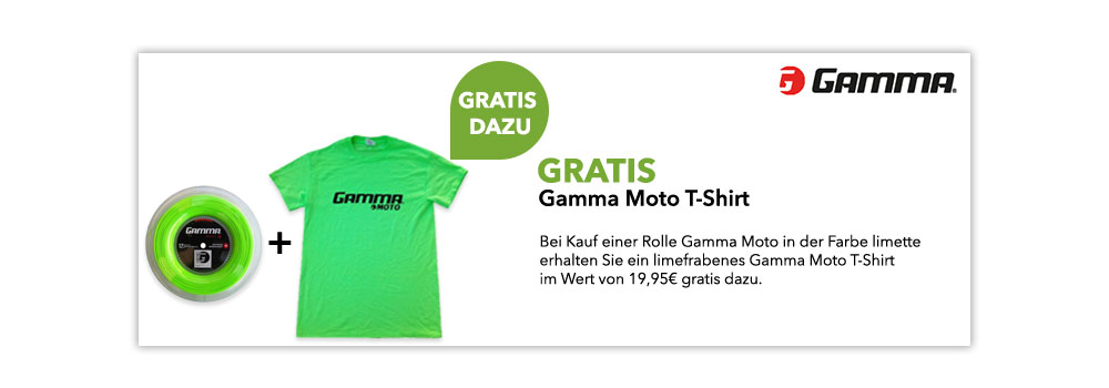 gratis Gamma Moto-Shirt in limette