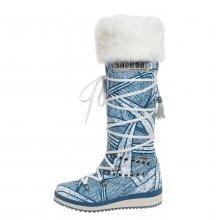 Snoboot Mutant High Stamp blau Winterschuhe Damen