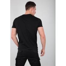 Alpha Industries Tshirt Basic (Baumwolle) schwarz/weiss Herren