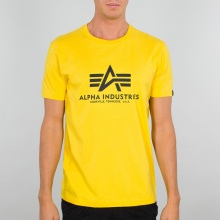 Alpha Industries Tshirt Basic (Baumwolle) gelb Herren