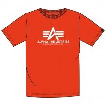 Alpha Industries Tshirt Basic (Baumwolle) atomicrot Herren