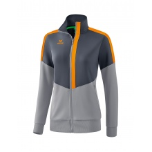 Erima Jacke Squad Worker 2020 grau/orange Damen
