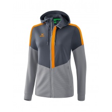 Erima Trainingsjacke Squad 2020 grau/orange Damen